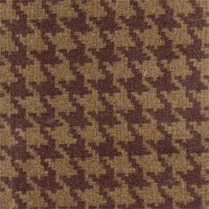 Houndstooth Wine/Tan Chenille Upholstery Fabric