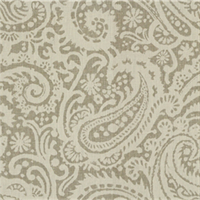 Paisley Grey Drapery Fabric 1 Yard Piece