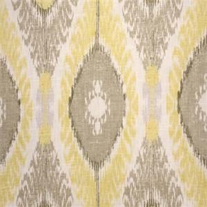 Chimayo Lemon Sorbet Ikat Print Drapery Fabric