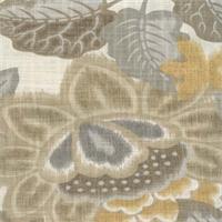 Temara Turmeric Floral Ikat Print by Braemore