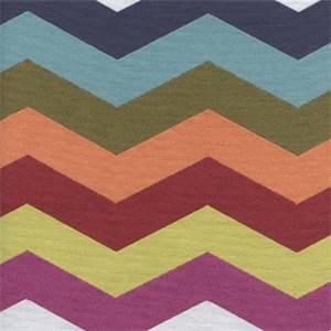 Rainbow Prism Chevron Stripe Upholstery Fabric
