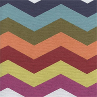 Rainbow Prism Chevron Stripe Upholstery Fabric