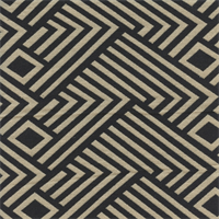 GTX Contemporary Chevron/Diamond 002 Navy/Natural Upholstery Fabric