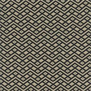 GTX Chevron Diamond Dot 001 Dark Navy/Natural Upholstery Fabric