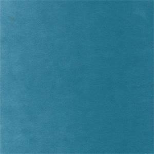Banks Turquoise Solid Velvet Upholstery Fabric