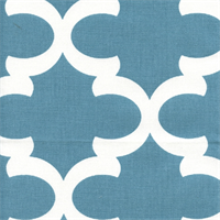 Fynn Regatta Cotton Blue Drapery Fabric by Premier Prints