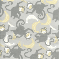 Chimps Storm Twill Drapery Fabric by Premier Prints
