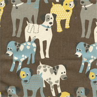 Woof Woof Cambridge Natural Drapery Fabric by Premier Prints