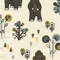 Honey Bears Cambridge Natural Drapery Fabric by Premier Prints