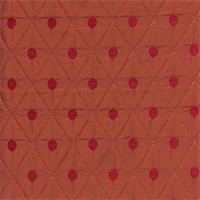 London 10 Tangerine Diamond and Dot Upholstery Fabric