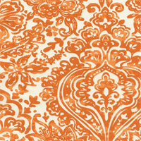 Shiloh Apache Orange Macon Drapery Fabric by Premier Prints