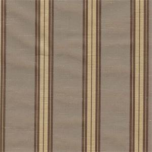Priene Smoke Stripe Faux Silk Drapery Fabric