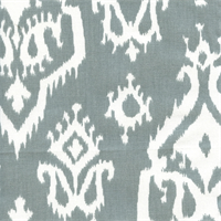 Raji Cool Grey Cotton Ikat Drapery Fabric by Premier Prints
