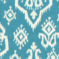 Raji Apache Blue Cotton Ikat Drapery Fabric by Premier Prints