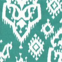 Raji Jade Cotton Ikat Drapery Fabric by Premier Prints
