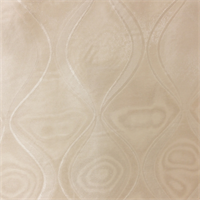 Geometric Ivory Sheer Drapery Fabric