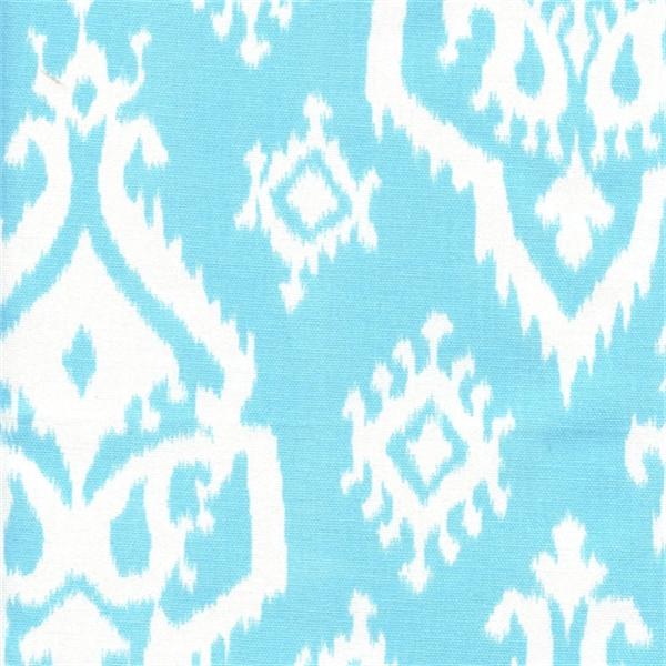 Raji regatta sky blue cotton ikat drapery fabric by premier prints
