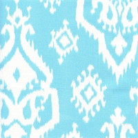 Raji Regatta Sky Blue Cotton Ikat Drapery Fabric by Premier Prints