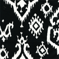 Raji Black Cotton Ikat Drapery Fabric by Premier Prints
