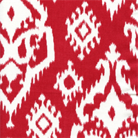 Raji Carmine Red Cotton Ikat Drapery Fabric by Premier Prints