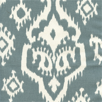 Raji Saffron Grey Cotton Ikat Drapery Fabric by Premier Prints