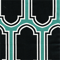 Fargo Jade Cotton Geometric Print by Premier Prints