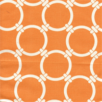 Linked Apache Orange Macon Cotton Geometric Print by Premier Prints