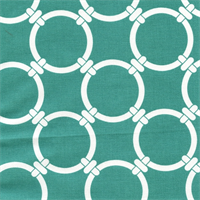 Linked Jade Cotton Geometric Print by Premier Prints