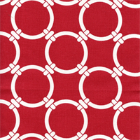 Linked Carmine Red Cotton Geometric Print by Premier Prints