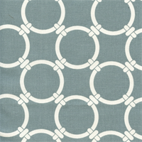Linked Saffron Grey Macon Cotton Geometric Print by Premier Prints