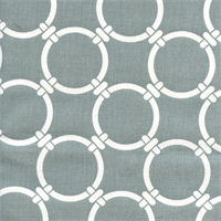 Linked Cool Grey Macon Cotton Geometric Print by Premier Prints