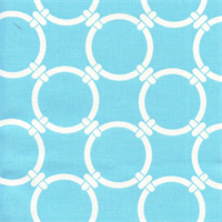 Linked Regatta Sky Blue Cotton Geometric Print by Premier Prints