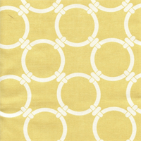 Linked Saffron Yellow Macon Cotton Geometric Print by Premier Prints