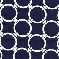 Linked Blue Cotton Geometric Print by Premier Prints