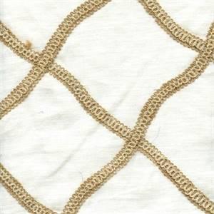 Encounter Ivory Linen Drapery Fabric