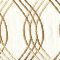 Intertwine Ivory Embroidered Linen Drapery Fabric