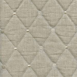 Rhombus Linen Diamond Quilted Upholstery Fabric