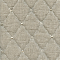 Rhombus Linen Diamond and Dot Embroidered/Quilted Linen Upholstery Fabric