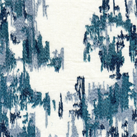 Flow Iceberg Ikat Embroidered Linen Blend Drapery Fabric