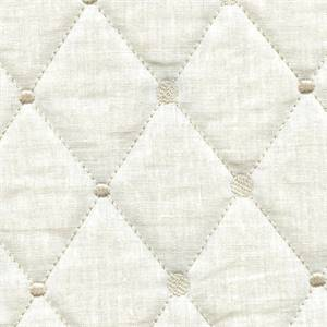 Rhombus Ivory Diamond Quilted Upholstery Fabric