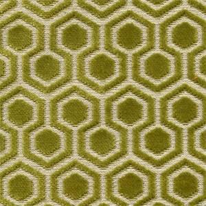 Davenport Kiwi Geometric Cut Velvet Chenille Upholstery Fabric