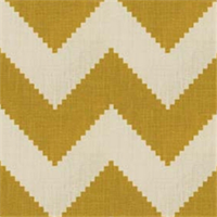 Chevron Yellow Contemporary Drapery Fabric by Famous Maker