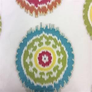 Dazzle Primary Medallion Drapery Fabric