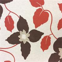 Cuba Floral #42 Linen Drapery Fabric