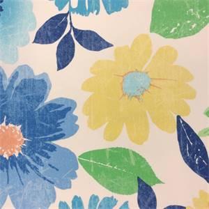 Maili Flower Azul #10 Floral Drapery Fabric