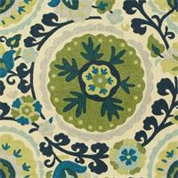 Cavallo BlueBird Floral Drapery Fabric