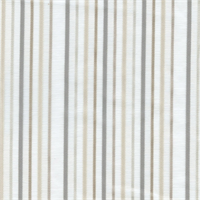 Burbes Smoke Striped Sheer Drapery Fabric
