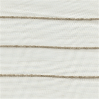 Tan and White Striped Net Sheer Drapery Fabric
