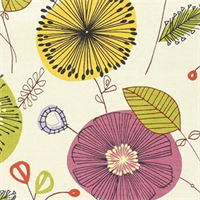 Doozie-Madden Primrose Floral  Drapery Fabric by Swavelle