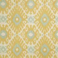 02606 Ikat Print Lemon Zest Drapery Fabric